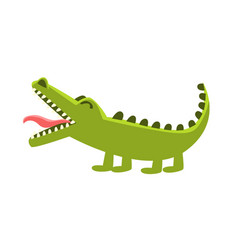 Crocodile burping cartoon character and his vector