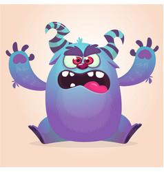 Cute colorful happy cartoon monster vector