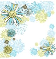 Design of decorative chamomiles Flower background vector image