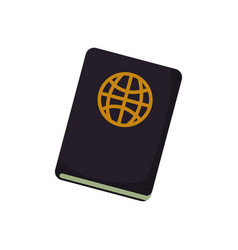 Document passport travel vector