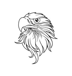 Eagle head logo template vector