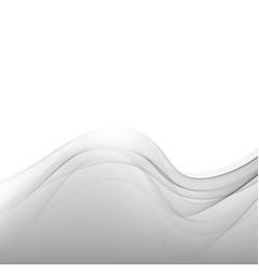 elegant silver technology background gray wave vector image