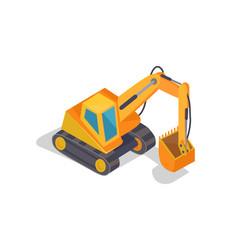 excavator machine banner vector image