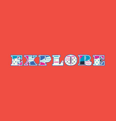 Explore concept word art vector
