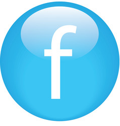 Facebook button simple shiny vector
