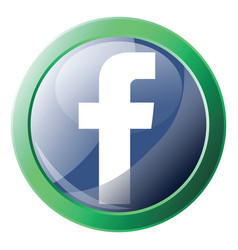 facebook platform logo inside green circle icon vector image