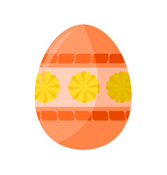 feminine salmon colored easter egg vector image