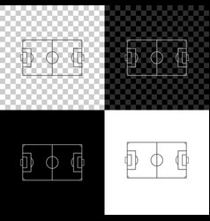 football field or soccer field icon isolated on vector image
