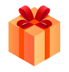 gift box icon isometric style vector image
