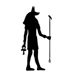 God anubis egypt egyptian silhouette ancient egypt vector
