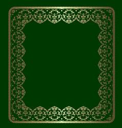 Gold ornamental frame vector