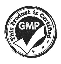 Good manufacturing practice gmp sign or stamp vector
