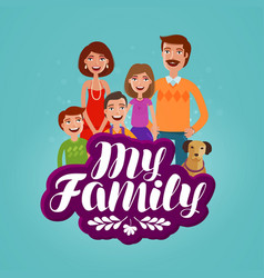 happy family concept domestic life cartoon vector image