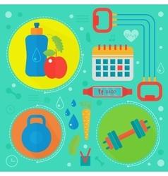 Healthy life flat concept vector image
