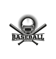 Isolated abstract black and white baseball helmet vector