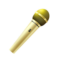 Karaoke golden microphone vector