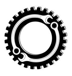 Logo or emblem for car service and garage high vector
