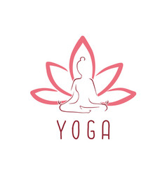 Lotus yoga logo icon design vector