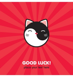 Lucky Cat card vector image