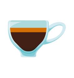 mug hot drink vector image