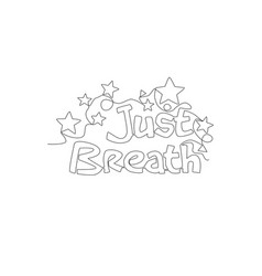 one continuous line drawing cute motivational vector image