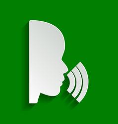 People speaking or singing sign paper vector