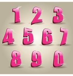 Pink numbers vector