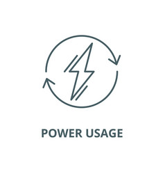Power usage line icon linear concept vector