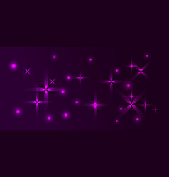 purple background in northern lilac frosty stars vector image