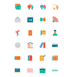Real Estate Flat Icons 5 vector image