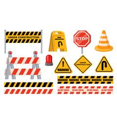 Road barriers set vector