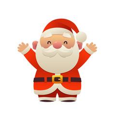 santa claus cartoon holiday character with hands vector image