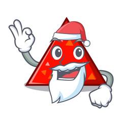 Santa triangel mascot cartoon style vector
