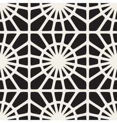 Seamless Black and White Mosaic Lace vector