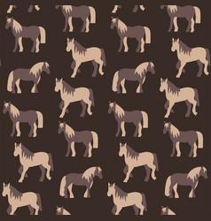seamless pattern beautiful prancing horses in vector image