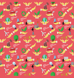 Seamless pattern flat 3 of elements for design vector