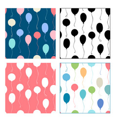 seamless patterns of balloons vector image