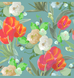 seamless watercolor floral colored pattern vector image
