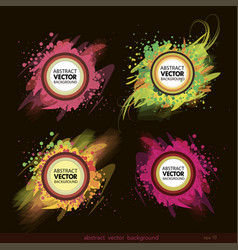 set of abstract label background vector image