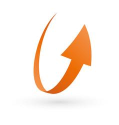 Simple loop circle arrow icon vector