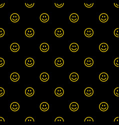 smile icon pattern happy and sad faces vector image