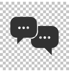 Speech bubbles sign Dark gray icon on transparent vector image