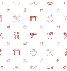 Spoon icons pattern seamless white background vector