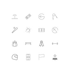 sport fitness and recreation linear thin icons vector image