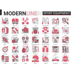 sport fitness equipment complex red black flat vector image