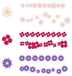 Spring brushes with flower vector