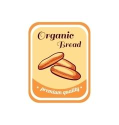 Sticker Organic Bread vector
