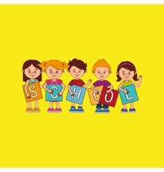 students back to school design vector image