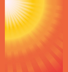 sun ray hot summer orange yellow gradien abstract vector image