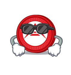 Super cool ark coin character cartoon vector